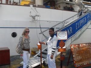 Boarding the Star Clipper