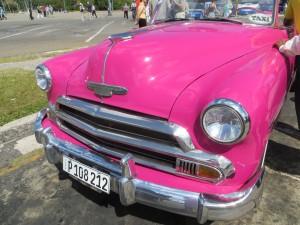 Pink Car Cuba